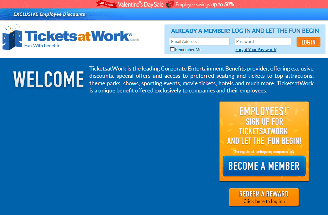 TicketsatWork Promo Code