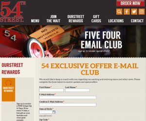 54th Street Coupons