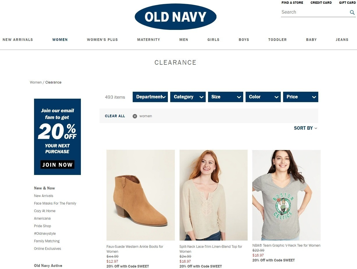 Top Old Navy Coupons, Promo Codes & Deals