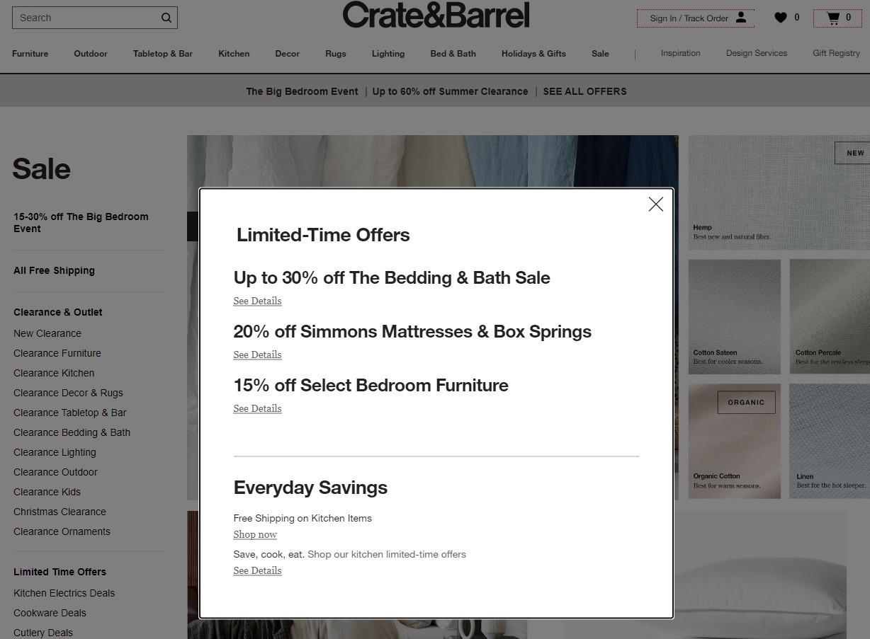 Crate and Barrel Promo Code