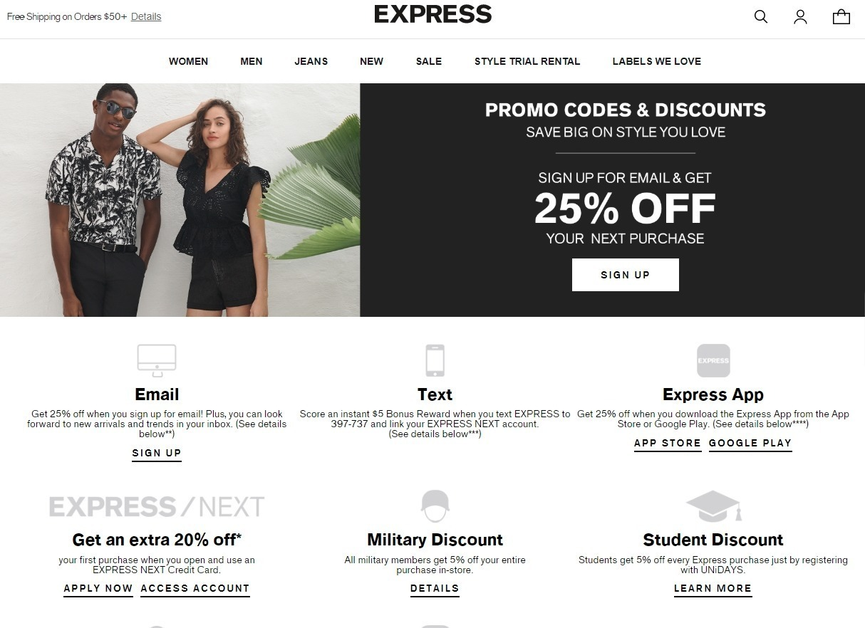 Best Express Coupons Promo Codes