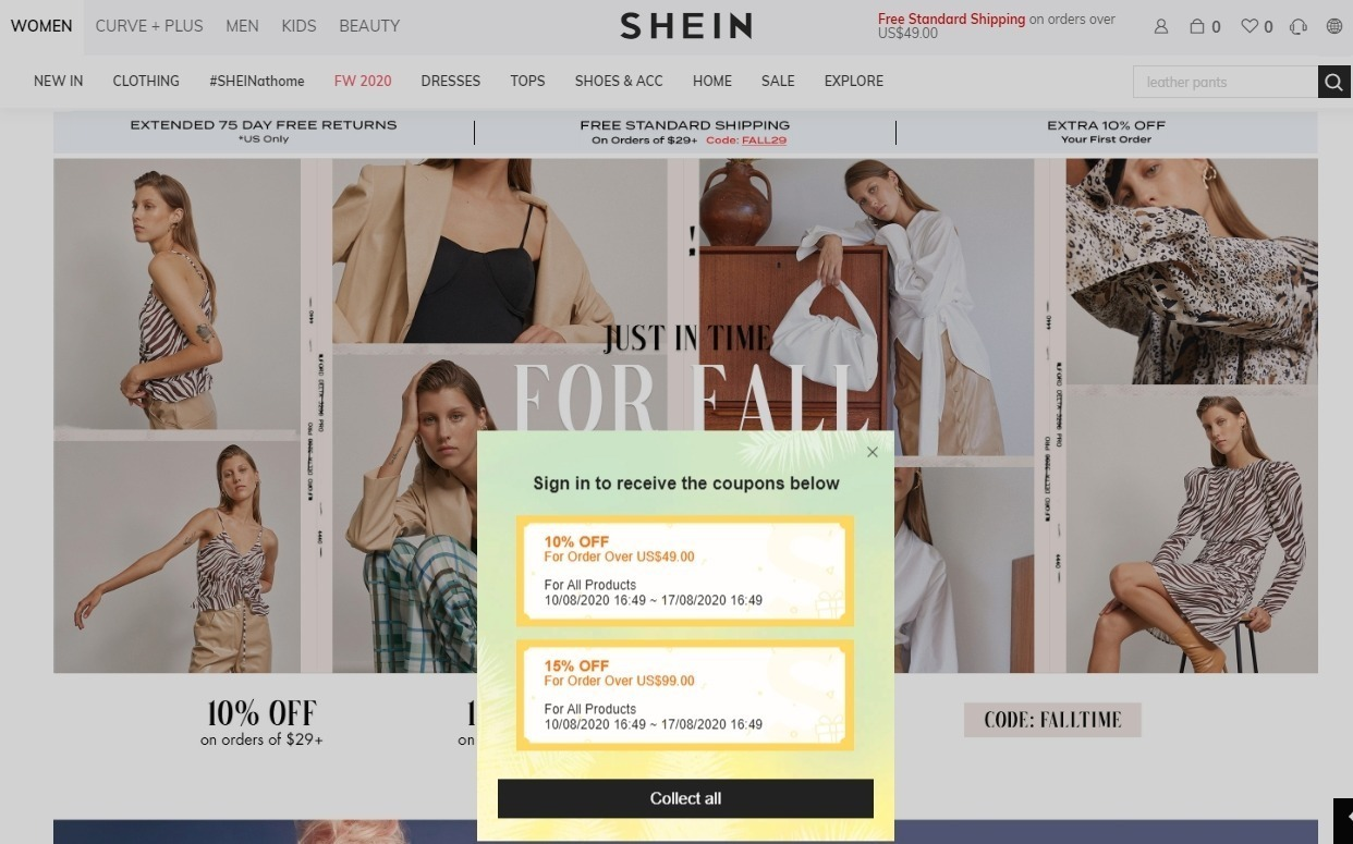 Top SHEIN Coupons & Promo Codes