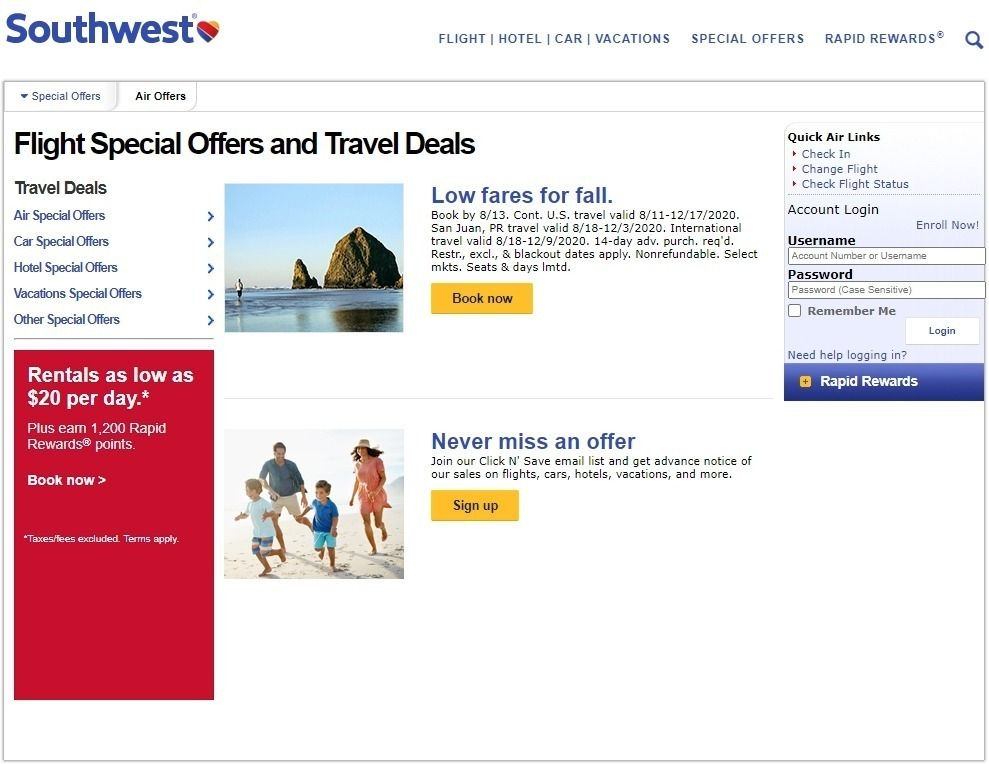 Best Southwest Promo Codes & Coupons