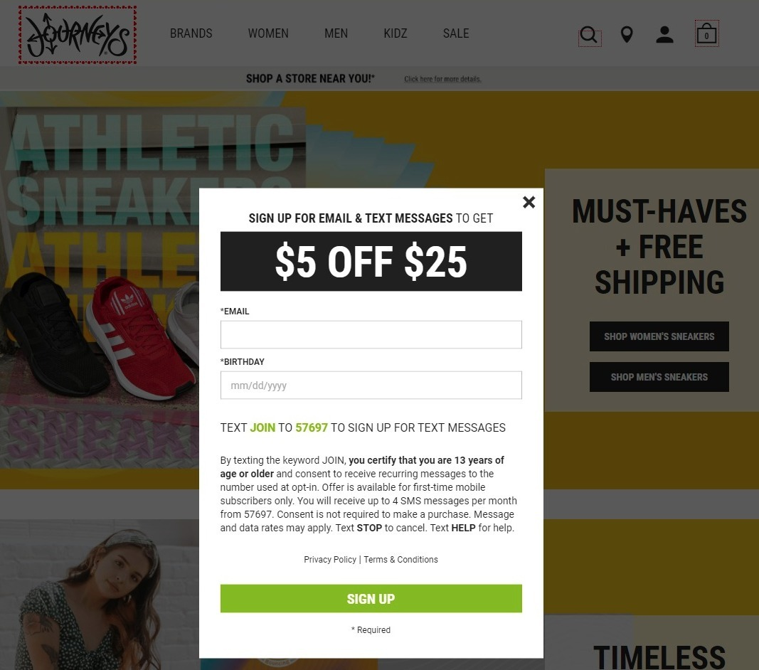 Journeys Coupon